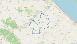 La cartografia del nuovo Comune di Terre Roveresche